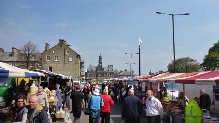 Buxton Market in sunshine